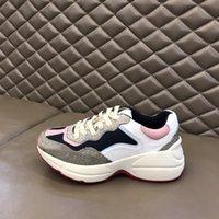 LUXURYS RHYTON Sneakers Aumento de los zapatos casuales Hombres Mujeres Entrenadores Classic Blanco Zapatilla de deporte Suela gruesa Suela Vintage Trainer Papá Zapato con caja