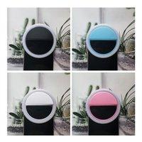RK12 Selfie Fill Light LED LED Beauty Ring Portátil Lámpara de teléfono celular recargable para iPhone Clip Video Film Shooting Makeup Stream 4 Colores