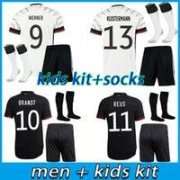 Alemania 2021 2022 Jersey de fútbol Hogar a casa Hummels Kroos Draxler Reus Muller Gotze Kimmich Gundogan 20 21 Camisa de fútbol Hombres + Kit Kits