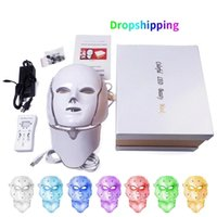 7 Colors Neck Led Facial Mask Korean Photon Therapy Face Mask Machine Light Therapy Acne Brighten Mask Neck Beauty Led