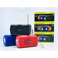 T-5296 Güneş Kablosuz Bluetooth Hoparlör Taşınabilir Ev Açık Subwoofer Müzik Multimedya Ses Stereo Surround Ses TF Kart El Feneri