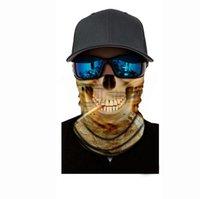 Scarves Leaf Camouflage Skull Skeleton Seamless Magic Headband Bandana Army Tube Neck Military Man Face Mask Bicycle Head Scarf Headwear