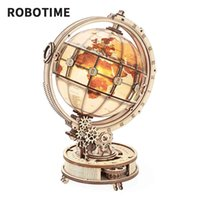 Robotime ROKR Luminous Globe 3D Wooden Puzzle Gam Assemble Model Buliding Kits Toys Gift for Children Boys
