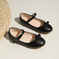 Zapato plano de damas 25-36 niña cuero desnudo negro gris nuevo arrículo trabajo vestido de fiesta de fiesta de boda cincuenta y uno