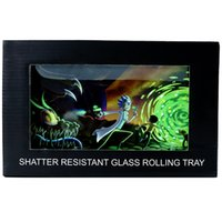 157MM*256MM Glass Smoking Rolling Tray Tobacco Dry Herb Shatter Proof Cigarette Rolling Trays Holder Wholesle