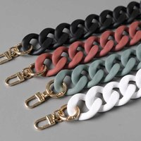 Fashion Thick Chains Matte Big Strap Solid Color Acrylic Chain for Womenbags Big Handle Shoulder Crossbody Straps Bag Decoration