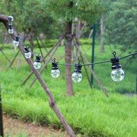 8/13 / 24m LED Globo String Fairy Lights Clear White Blanco G50 Outdoor al aire libre Impermeable Jardín Patio Patio Decoración de la calle D2.0