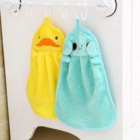 Serviette à main suspendue Cuisine Salle de bain Indoor épais tissu doux épais essuie-mains en coton coton vêtement nettoyer les accessoires de serviette 313 s2