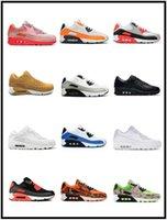 Classic 90 Mulheres Homens Athletic Correndo Sapatos Grande Tamanho 12 Esportes Sneakers Dia dos Dead Glasgow Cool Cinzento Rosa Tudo Preto Branco Verde Homens Mulheres Treinadores EUR 36-46