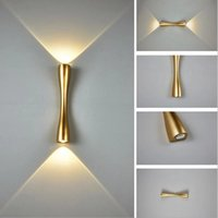 Topoch Creative Wall Lamp Indoor Outdoor Waterproof IP65 Long Horn Up and Down LED Sconce Light Decoration 24 35CM 2x5W 100-240V