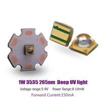 라이트 비즈 고전력 3535 1W 265nm Deep UV LED 칩 UVC 자외선 살균 다이오드 150mA 5-9V