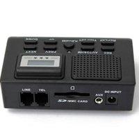 デジタルボイスレコーダーのサポートSDカードの自動録音携帯電話電話コール固定電話ボックスLCDディスプレイ