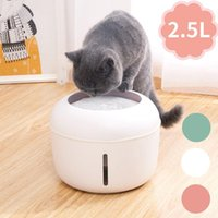2.5L Automatic Pet Cat Water Dispenser Creative USB Fountain For Dogs Cats Drinking Circulation Filter Cotton Pets Feeder Bowls & Feeders