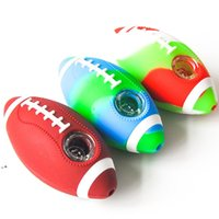 4.0inches Football Hand Pipe Tobacco Smoking Pipe Glass Pipe Dab Rig smoking accessories HHA8794