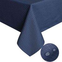 Ufriday ретро синий плед таблица ткани водонепроницаемая вечеринка свадьба домашняя кухня обеда для столовой ткани Placemat Pad утолщенные ткани 210626