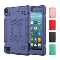 Kids Baby Non-slip Soft Silicone Shockproof Protective Case Cover For Amazon Kindle Fire 7 Fire7 HD 8 HD8 E-book Tablet