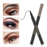 Eyebrow Pencil Wholesale Eye Brow Tattoo Pen Three and Four Fork Natural Durable Waterproof Sweatproof Micro-carved Liquid Miss Rose Makeup