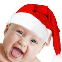 Kırmızı Noel Baba Şapka Noel Dekorasyon Cosplay Kapaklar Yetişkin Çocuklar Noel Parti Şapka ZZA3328 800 adet