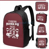 Funny Graphic Print Stubborn Guinea Pig Tricks With Seven Styles USB Charge Backpack Men School Bags Women Bag Travel Laptop