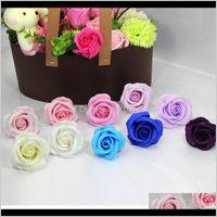 Decorative Wreaths Festive Party Supplies & Gardenpaper 50Pcs  Box 5Cm Soap Wedding Valentine S Day Gift Diy Artificial Flowers Home Decor Ro