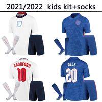 Top Thaïlande Qualité Foden Kane Angleterre Football Football Soccerys 2021 Sterling Rashford Mount Sancho Grealish 21 22 T-shirt National Kit Kit Kit Ensembles Chaussettes Uniformes