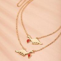 Ювелирные изделия Динозавр Металлический Клейвица Цепь Креативная Мода Trend Choker Ожерелье
