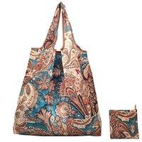 Storage Bags Shopping Bag Reusable Portable Grocery Tote With Handle Big Size Thick Nylon Foldable Food Bolsa Plegable