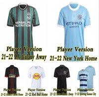 Mls 21-22 La Galaxy Soccer Jersey Player Version 2021 2022 Atlanta United Sporting Kansas City Inter Miami Football Shirts Beckham