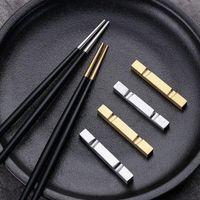 Chopsticks 8 pares de conjunto de talheres de metal reutilizável conjunto chinês japonês macarrão coreano hanamaki mesa de casamento suprimentos
