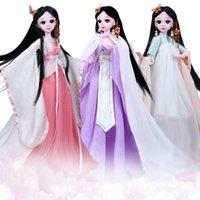 60 cm 1/3 Puppe Kleidung Chinesische Art Kostüm DIY Dress Up Kleidung Kostüme Antike Prinzessin Mädchen Spielzeug Puppe Kleid Zubehör
