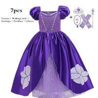 Infant Baby Girls Princess Costume Halloween Cosplay Party Role-play Kids Fancy Dresses For Dress-up 2-10T Ball Gown 210522
