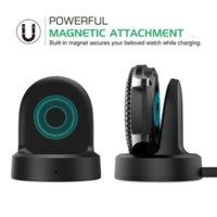 Wireless Charging Dock Cradle شاحن لسامسونج والعتاد S3 الكلاسيكية S2 ساعة مع 1M كابل USB حزمة البيع بالتجزئة اللون الأسود