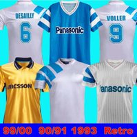 99 00 올림픽 드 마르세유 축구 유니폼 레트로 기념 축구 셔츠 Deschamps Papin Boli Desailly Voller 98 1993