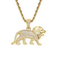 Top Tête de lion de haute qualité Collier exquis Zircon Pendentif Chaîne Set Accessoires de mode Jewel Hommes et femmes