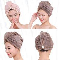 Towel 1 Pcs Bath Microfiber Fabric Absorbent Dry Hair Hat Quick Towels Lady Turban Shower Cap Bathroom Supplies 23*60cm