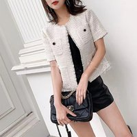 321 2021 Spring Brand Same Style Coat Empire Button Crew Neck Tweed Fashion Casual Coat High Quality nanami