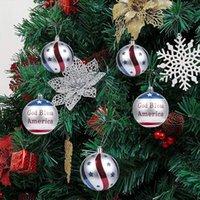 Weihnachtsdekorationen 12 stücke 6cm Amerikanische Unabhängigkeitstag Party Set Ball Ornamente Weihnachtsbaum Dekoration Bälle