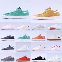 2021 Blazer MID 77 Koşu Ayakkabıları Lucid Yeşil Yelken Beyaz Chicago ve Toronto Tuval Pasifik Mavi Habanero Kırmızı Sneaker Boyutu 36-45