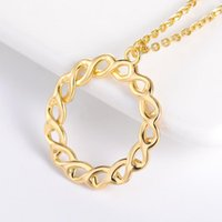 Pendant Necklaces Trendy Charming Round Twisted Necklace Women Simple Stainless Steel Minimalist Classic Accessories Jewelry Gifts