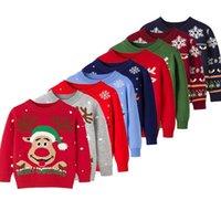 Designer Fashion children's clothing designer Pullover Children Jumper Boy Girl Holiday Sweater Child Cartoon Reindeer Xmas Costume Kids Kni