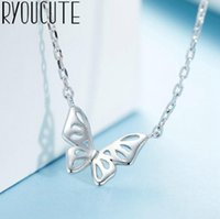 Bohemia Fashion 925 Sterling Silver Long Butterfly Choker Necklaces For Women Boho Statement Necklace Wedding Jewelry Bijoux Chokers