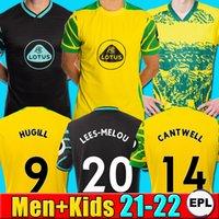 2021 2022 Norwich City 21 22 Kit Jersey di calcio Kit Pukki Soccer Jerseys Hurseil Roberts Hernandez Stiepermann McLean Benendia Camicia da calcio per bambini