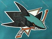 Stanley Cup San Jose Sharks # 8 Joe Pavelski 19 Thornton 88 Brent Burns 9 Evander Kane Verde Branco # 65 Erik Karlsson Couture Hockey Camisas