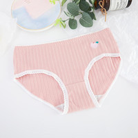 Women's Panties Cotton Love Sexy Ladies Women Underwear Fruit Stripe Breathable Lace Elastic Skin-friendly Briefs Comfortable Lingerie