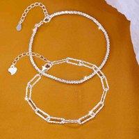 Boucles d'oreilles design Bagues de fiançailles, bracelets et colliers d'or sont les favoris Femmes Bracelets de charme 925 Pure Silver Sparking Star Net Red Fashion Niche des