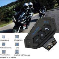 Microphones Bluetooth Moto Helmet Headset Wireless Handsfree Stereo Earphone Motorcycle Headphones MP3 Speaker