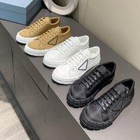 Zapatillas de ruedas con top altas lienzo costuras de dos colores Lerren estilista Sneakers Cassetta Piso Hombres Mujeres Casual Zapato Tela Corredor Sneaker