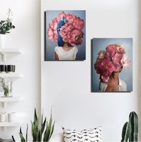 40x60cm Malen Abstrakte moderne Blumen Frauen DIY Ölgemälde Zahl auf Leinwand Home Decor Abbildung Bilder Geschenk RRD6234