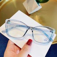 선글라스 TR90 블루 라이트 블로킹 안경 빈티지 고양이 눈 2021 안경 프레임 컴퓨터 고글 안티 블루 레이 광학 평면 렌즈