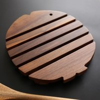 Table Runner Nordic Solid Wood Insulated Small Fish Pot Mat Household Heat-resistant Non-slip Plate Pad Anti-teapotplate Kitchen Utensils
